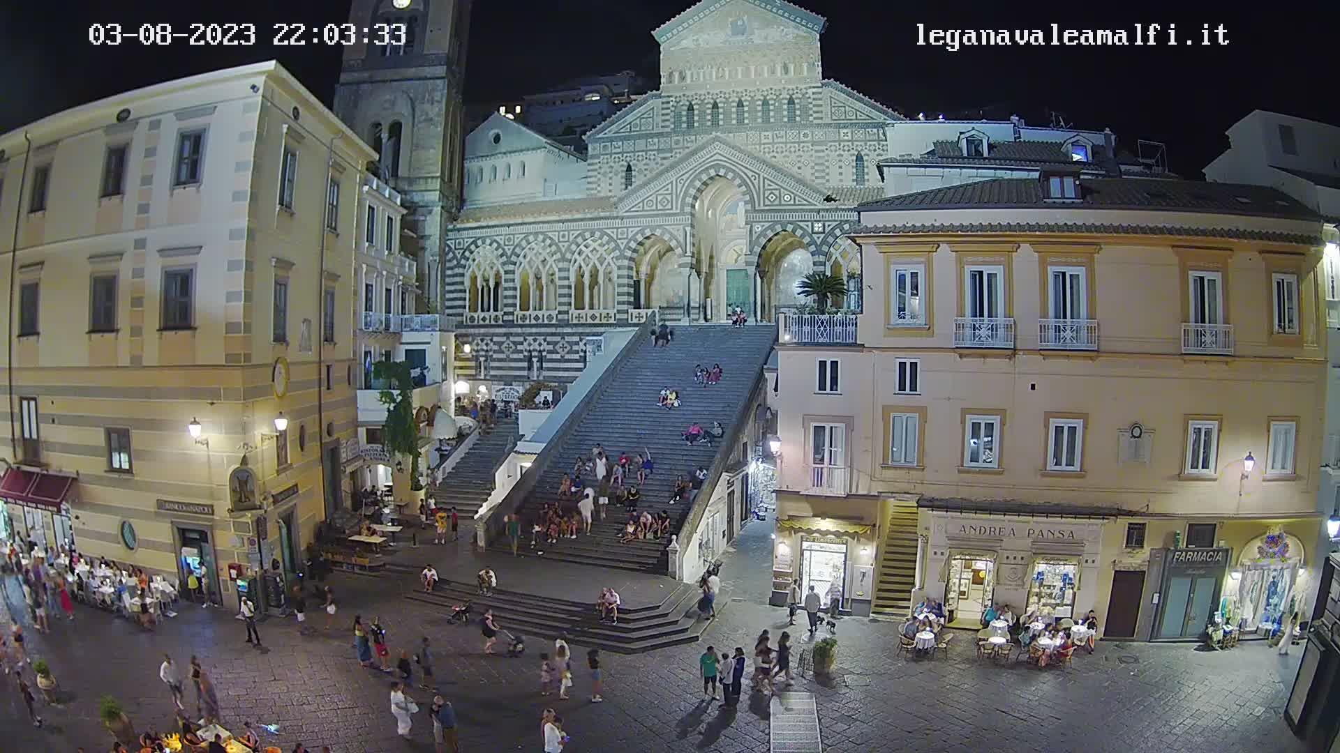 Webcam Amalfi, Piazza Duomo - Lega Navale Amalfi