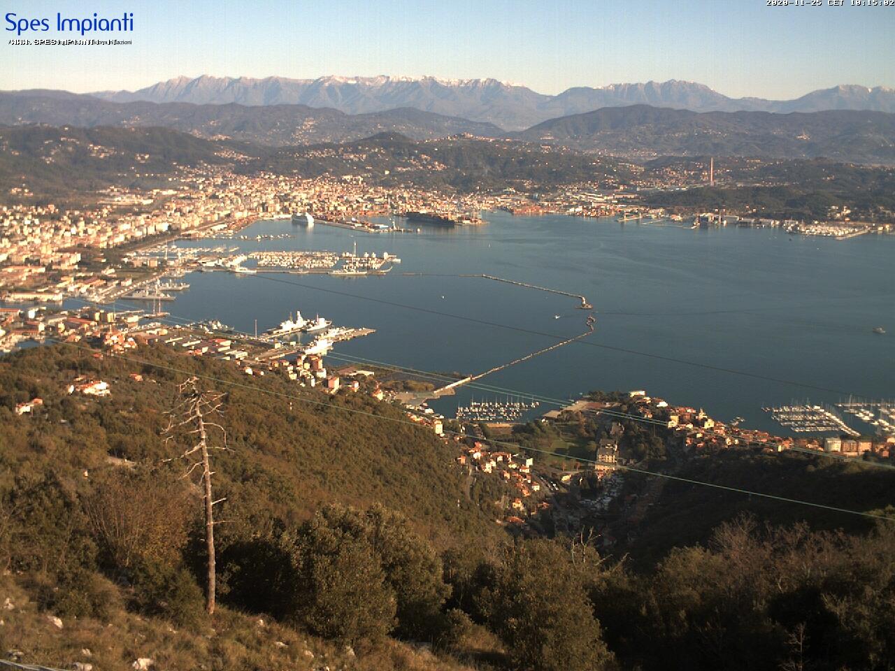 La spezia in diretta webcam e hotel la spezia italia for Diretta camera