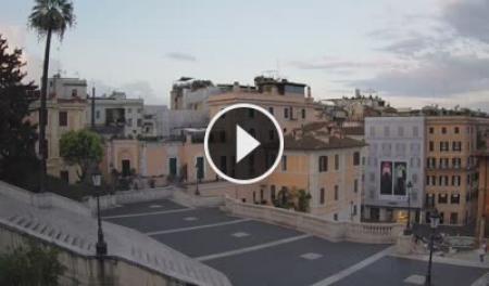 Webcam Roma, Trinità dei Monti - Skyline Webcams