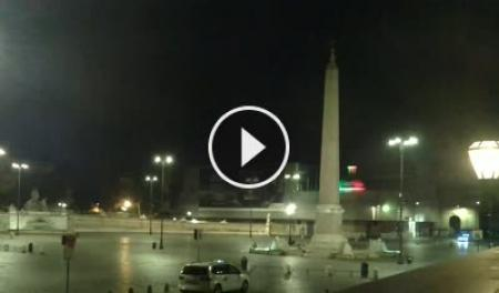 Webcam Roma, Piazza del Popolo - Skyline Webcams