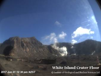 Webcam White Island Volcano