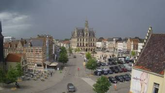 Stadthuis view of the stadthuis and the market of oudenaarde