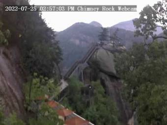Webcam Chimney Rock, North Carolina