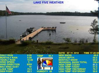 Webcam Clam Lake, Wisconsin