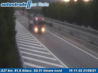 Webcam Ponte nelle Alpi