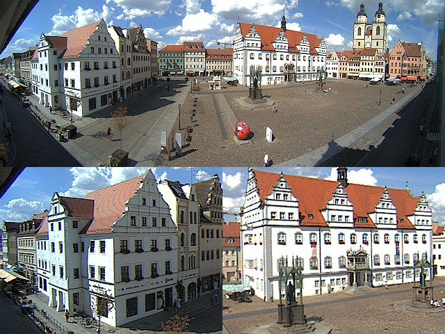 wittenberg markt und altes rathaus webcam galore. Black Bedroom Furniture Sets. Home Design Ideas
