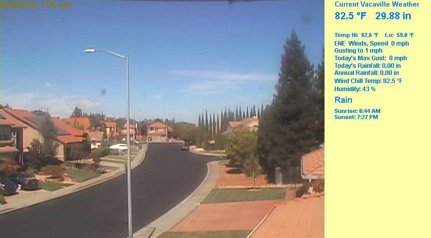 Webcam vacaville california vacaville weather for Vacaville weather