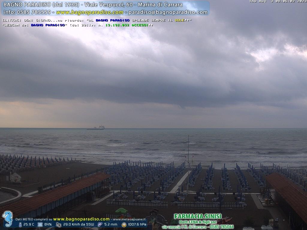 Webcam marina di carrara beach panorama - Webcam bagno paradiso ...