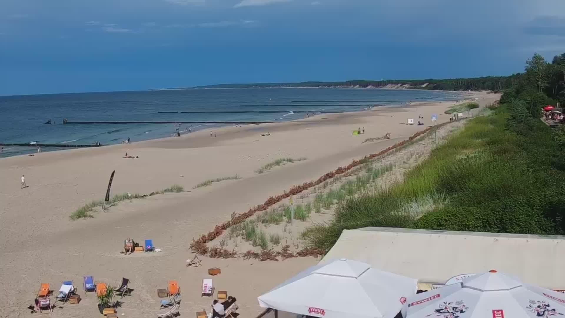 Ustka: Livestream Strand - Webcam Galore