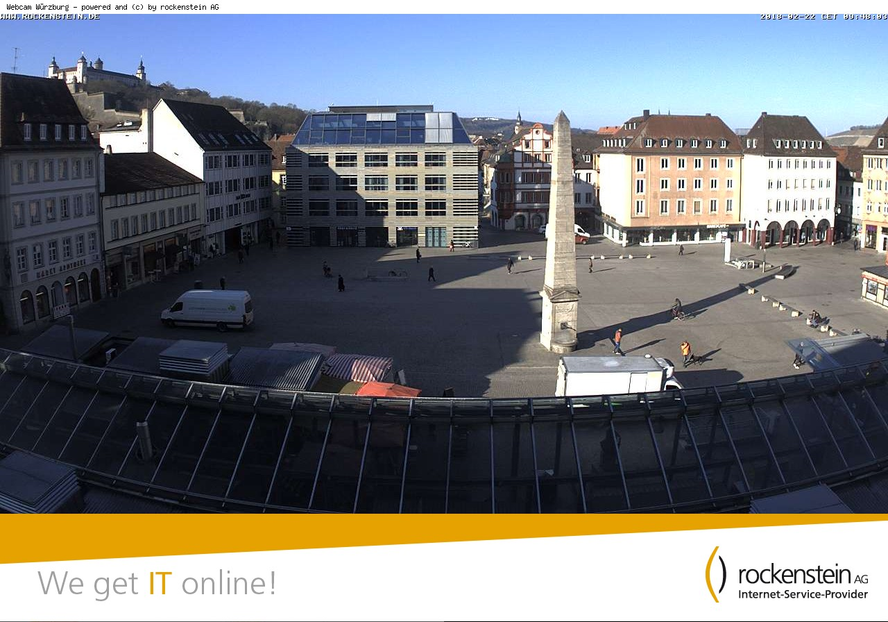 w rzburg w rzburg marktplatz unterer markt webcam galore. Black Bedroom Furniture Sets. Home Design Ideas