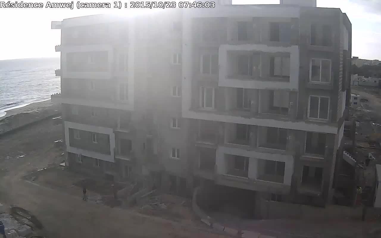 Webcam Sousse: Résidence Amwej Construction, Gulf of Hammamet