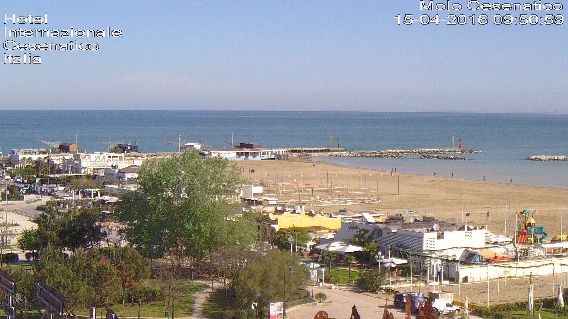 Webcam cesenatico private beach hotel internazionale - Bagno palm beach pinarella ...