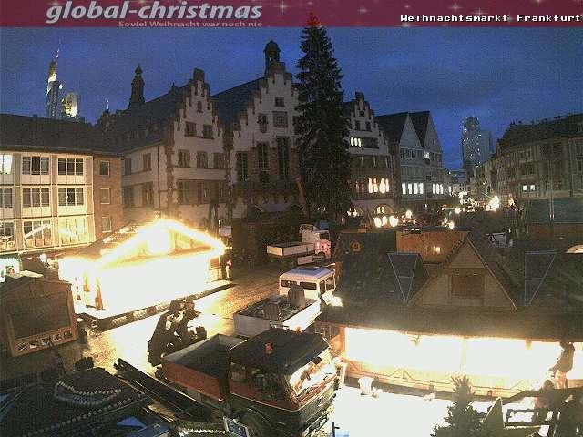 Weihnachtsmarkt Frankfurt Main.Webcam Frankfurt Am Main Christmas Market At The Römer