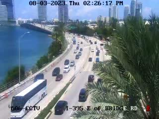 Karte Florida Miami.Miami Beach Florida I 395 East Of Bridge Road Webcam Galore