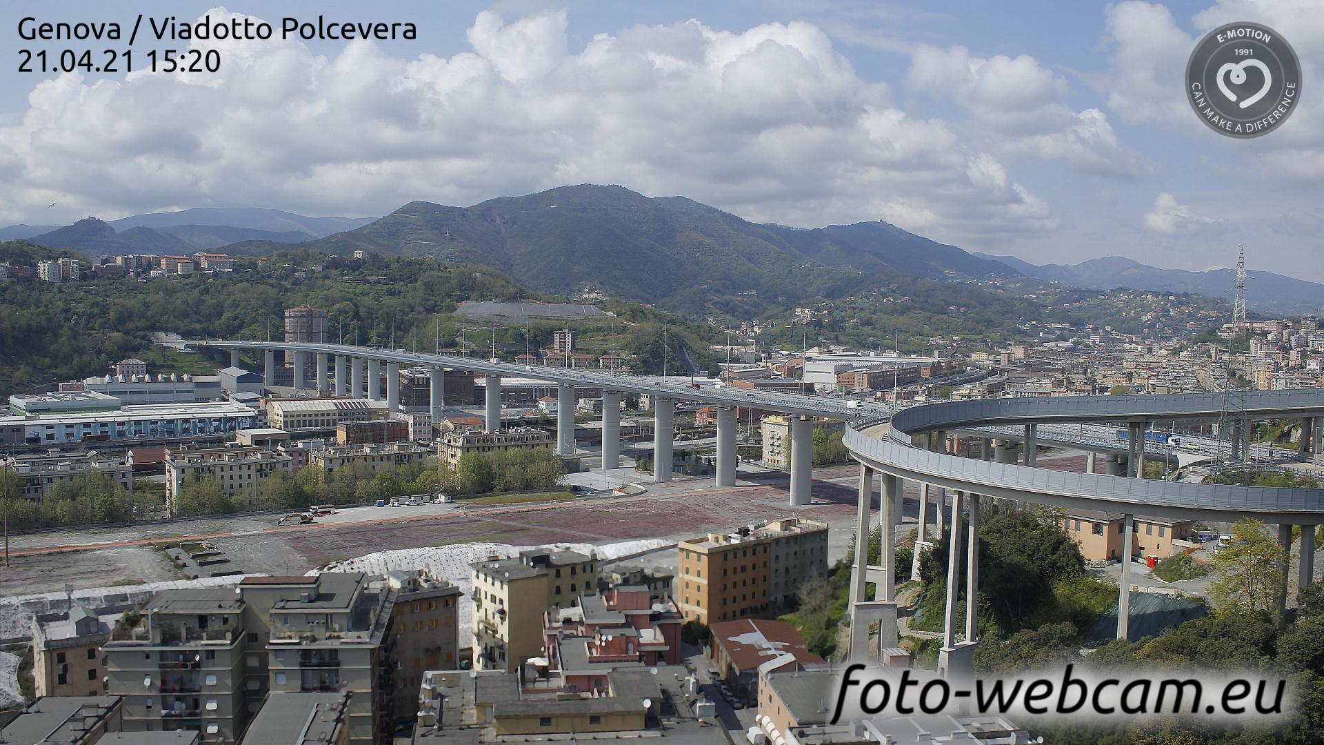 Webcam Genova, Viadotto Polcevera - foto-webcam.eu