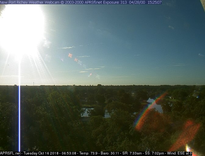 Webcam New Port Richey Florida New Port Richey Sky Webcam