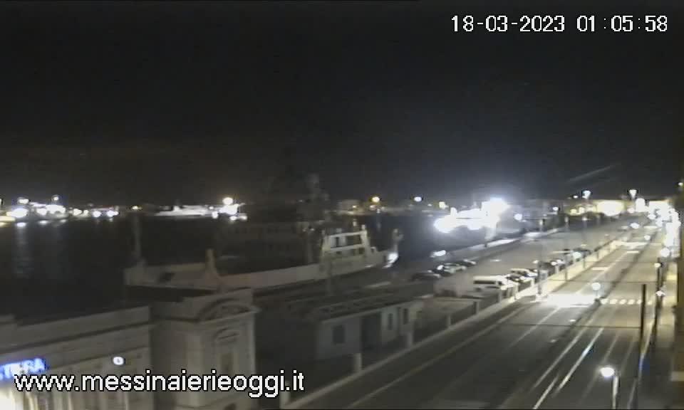 Webcam Messina, Porto - Messina Ieri e Oggi