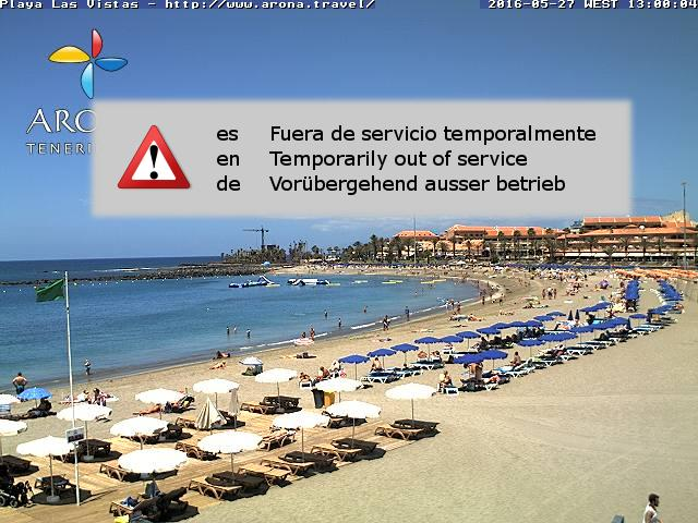 Webcam los christianos tenerife playa de las vistas - Arona web camera ...