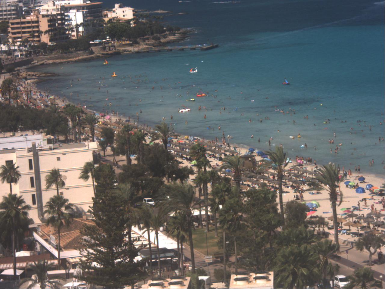 Cala Millor Mallorca Strandblick Nord Webcam Galore