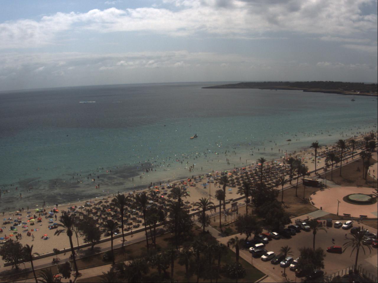 Cala Millor Mallorca Strandblick Südosten Webcam Galore