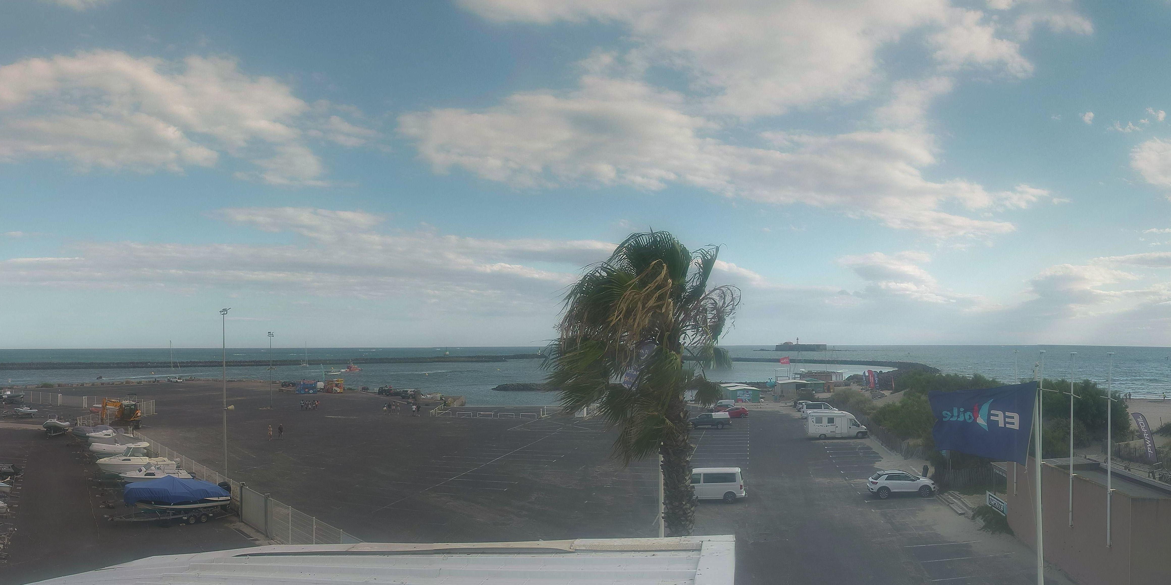 Webcam cap d 39 agde panoramique hd for Cap d agde jardin d eden