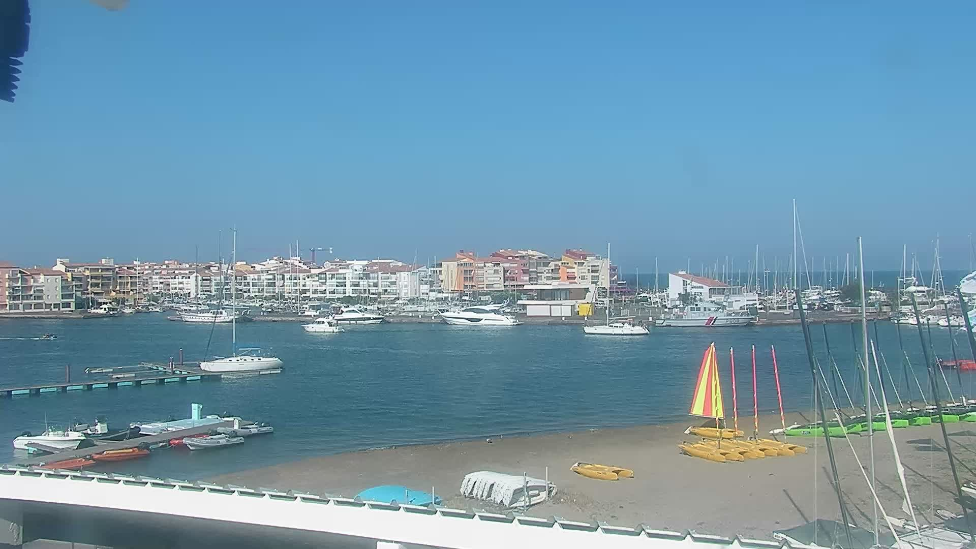 Webcam cap d 39 agde plage du centre nautique for Cap d agde jardin d eden