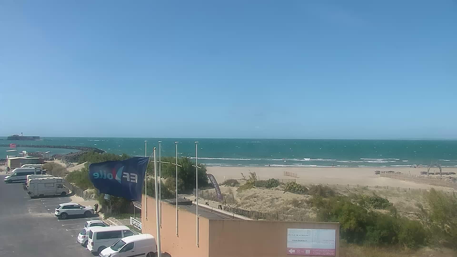 Webcam cap d 39 agde plage richelieu est for Cap d agde jardin d eden
