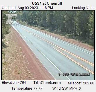 Webcam Chemult, Oregon: US97 at Chemult