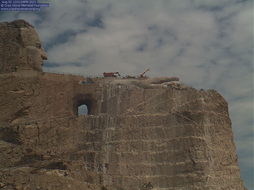 Webcam Crazy Horse Memorial South Dakota: View from the