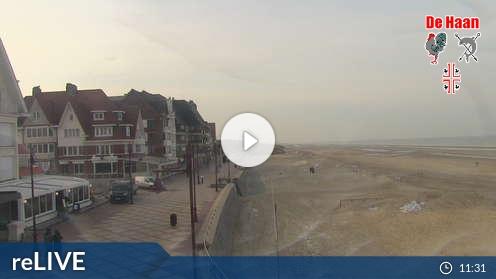 Live Webcam De Haan: Strandblick