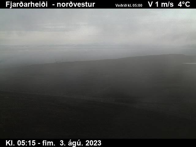 Fjarðarheiði (Heiðarvatn) Tue. 05:15