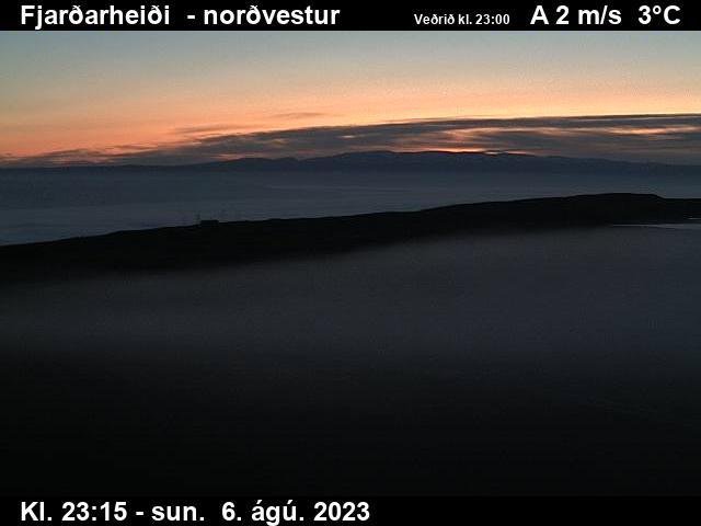 Fjarðarheiði (Heiðarvatn) Mon. 23:15
