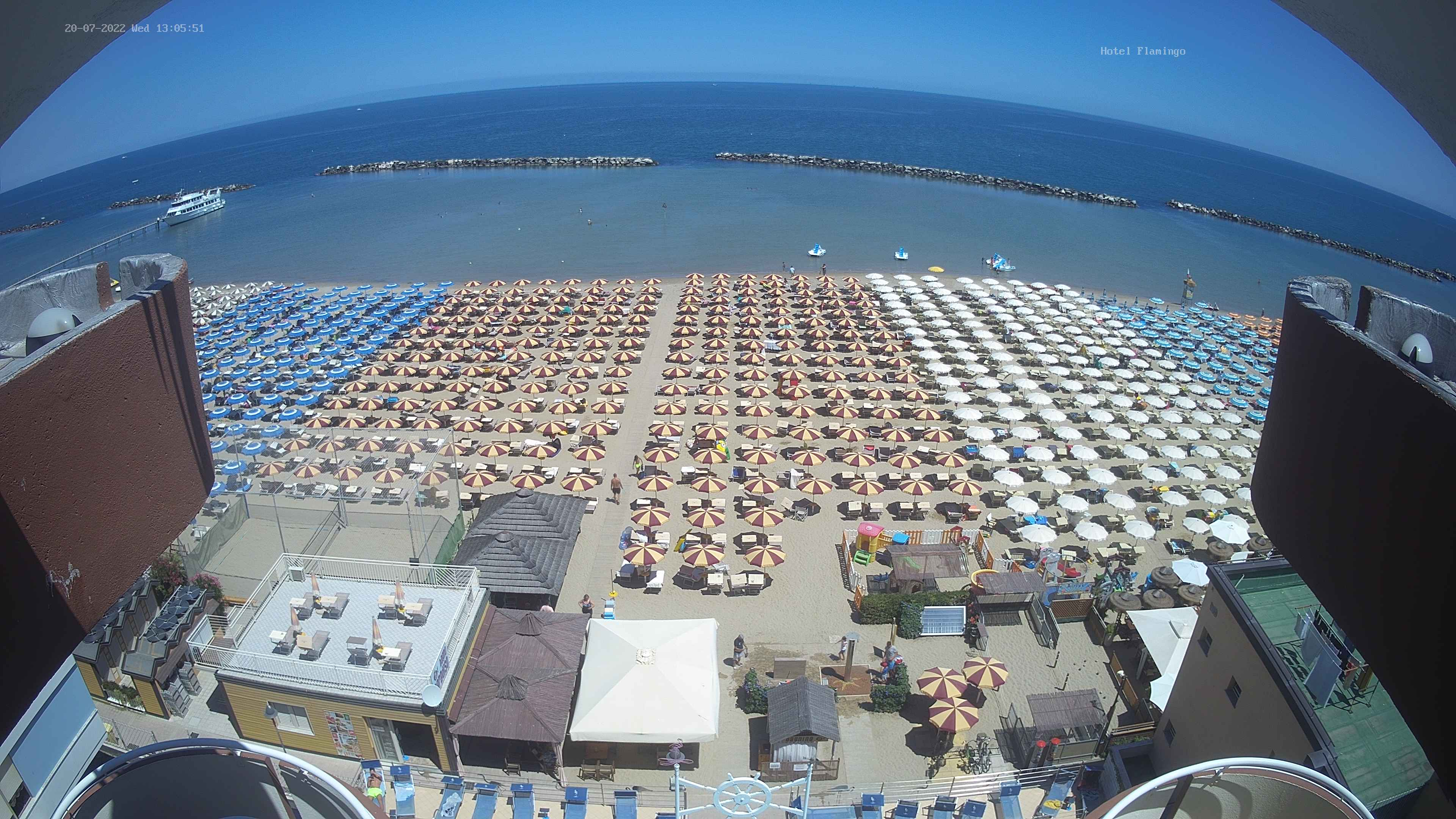 Webcam Hotel Flamingo Gatteo Mare