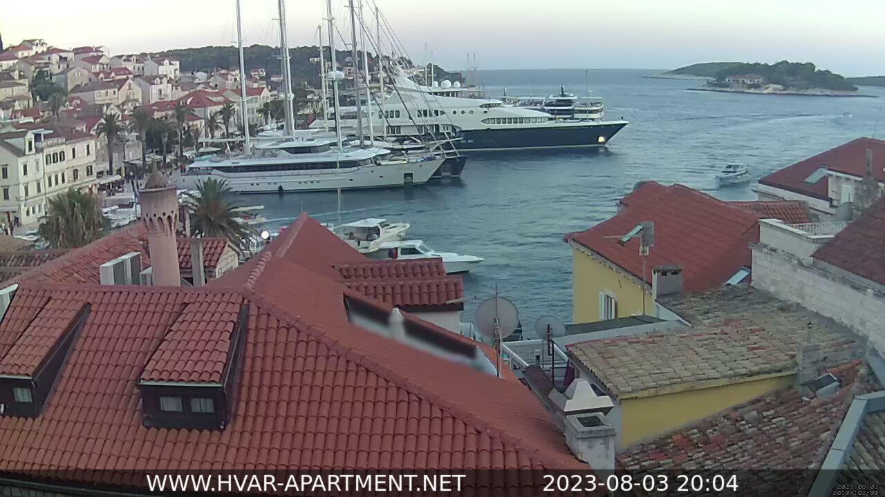 Live Webcam Hvar Harbor View