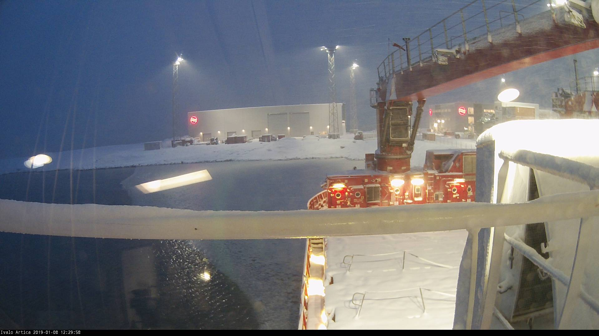 Arctic Line : Webcam ivalo arctica view over the ship