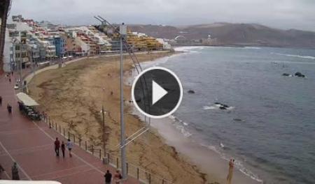 Live webcam las palmas de gran canaria strand von las - Living in gran canaria ...