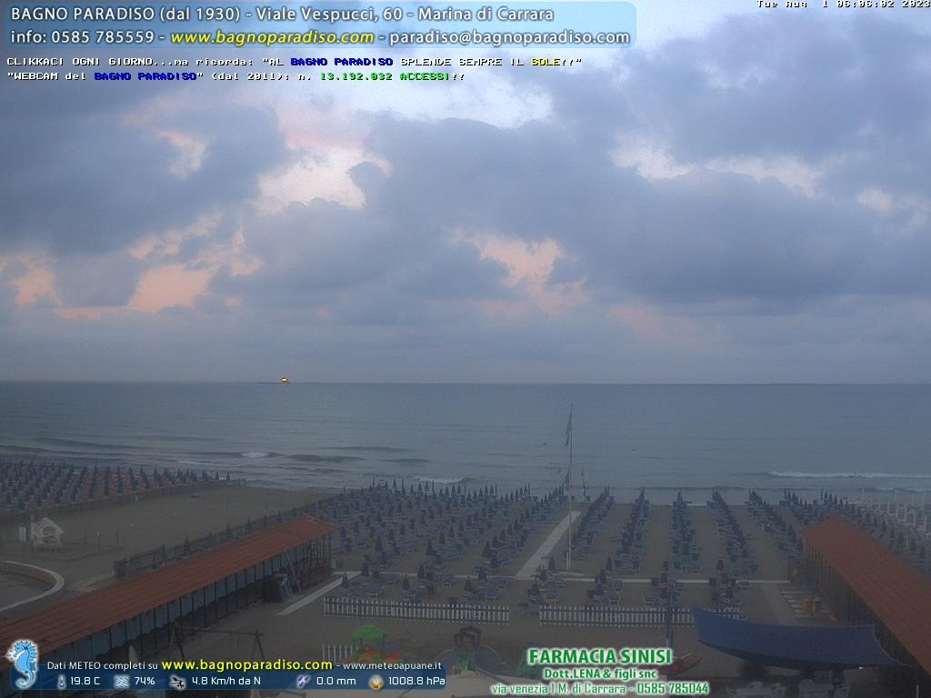 Marina di carrara strandpanorama webcam galore - Bagno paradiso marina di carrara ...