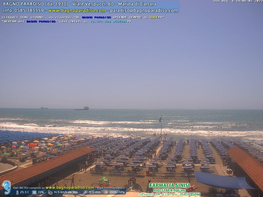 Live webcam marina di carrara beach panorama - Webcam bagno paradiso ...