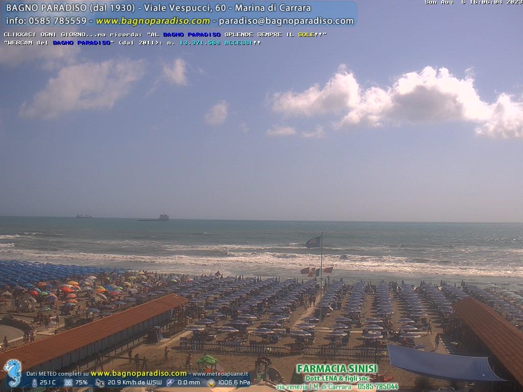 Live webcam marina di carrara beach panorama - Bagno paradiso marina di carrara ...