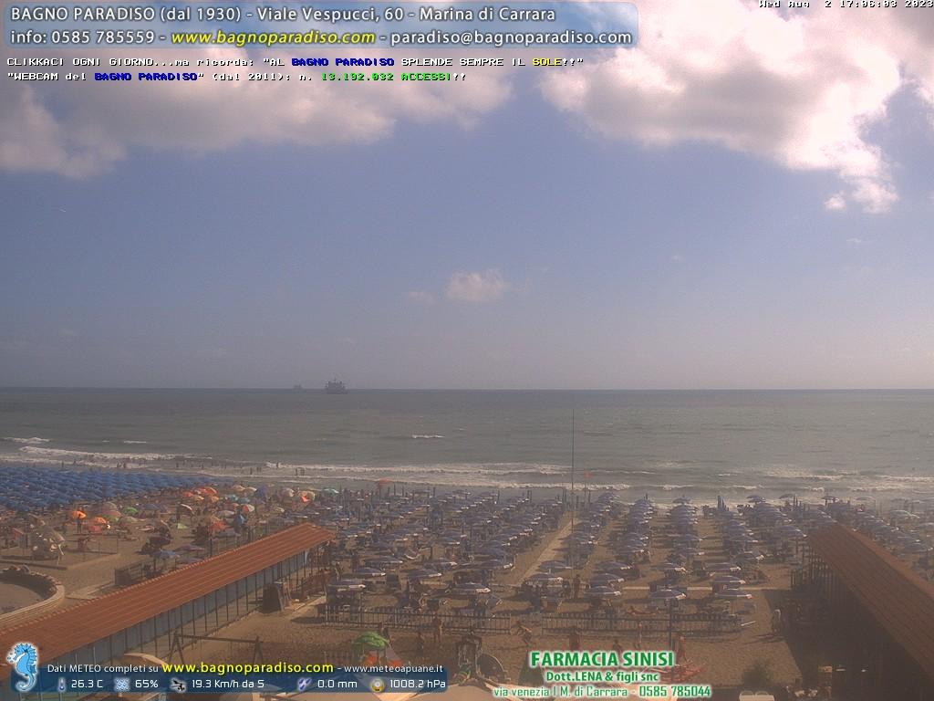 Live webcam marina di carrara strandpanorama - Webcam bagno paradiso ...