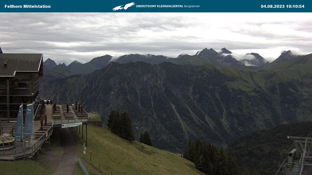 Live Webcam Oberstdorf: Fellhornbahn Mittelstation - Oberstdorf Karte Deutschland