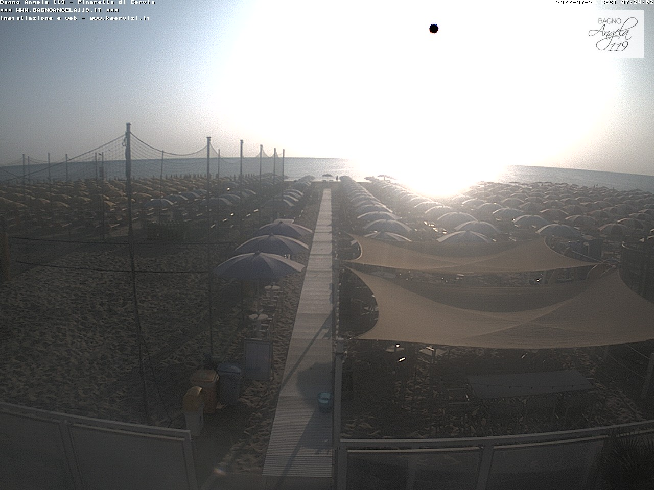 Webcam pinarella di cervia bagno angela beach - Bagno overbeach ...