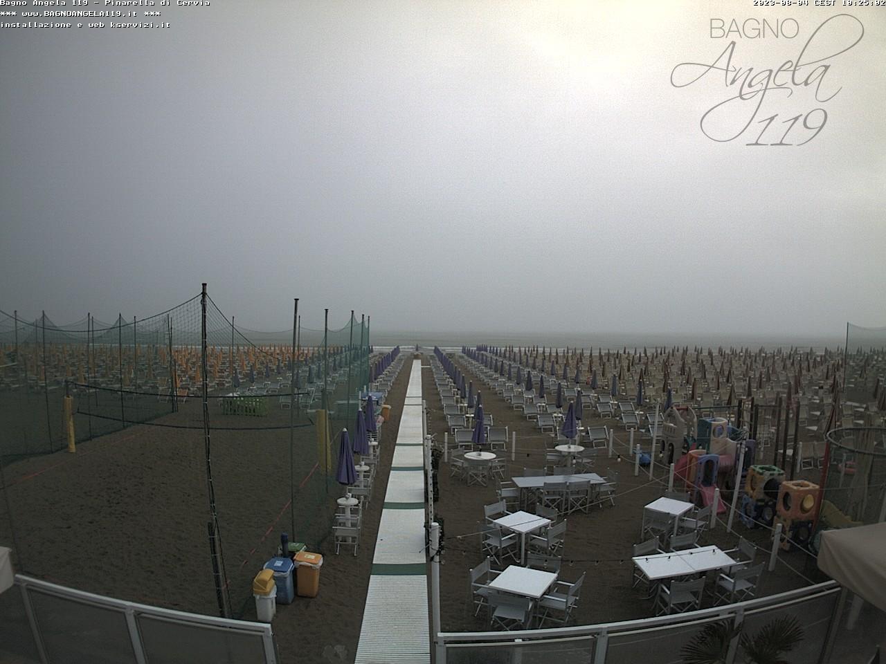 Webcam pinarella di cervia bagno angela beach - Bagno palm beach pinarella ...