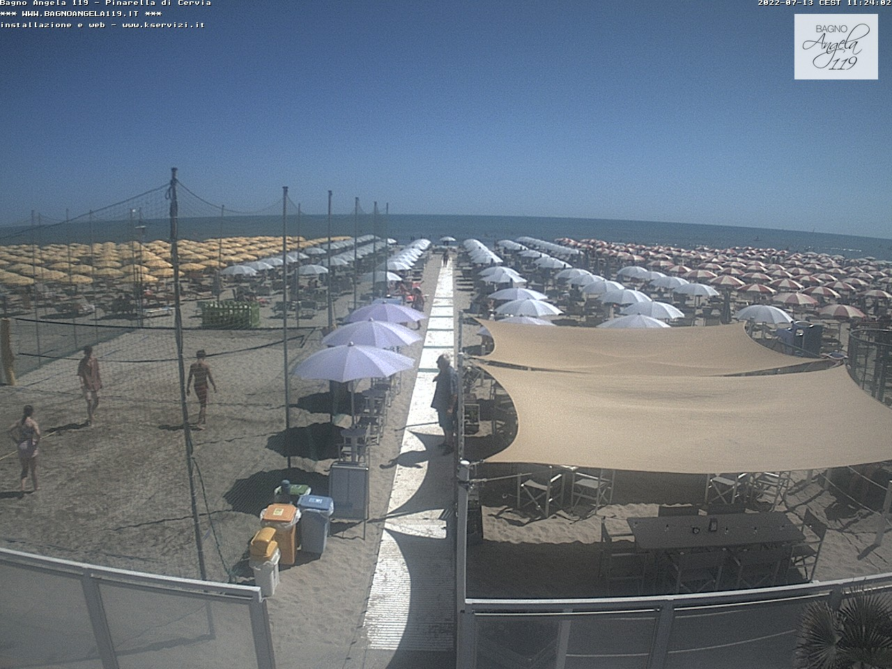 Webcam pinarella di cervia bagno angela beach - Bagno palm beach pinarella ...