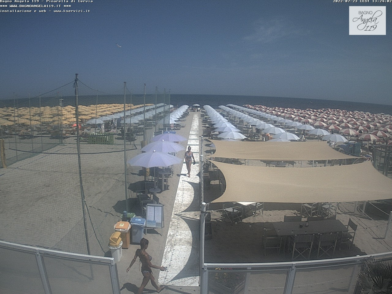 Webcam pinarella di cervia bagno angela beach - Webcam bagno di romagna ...