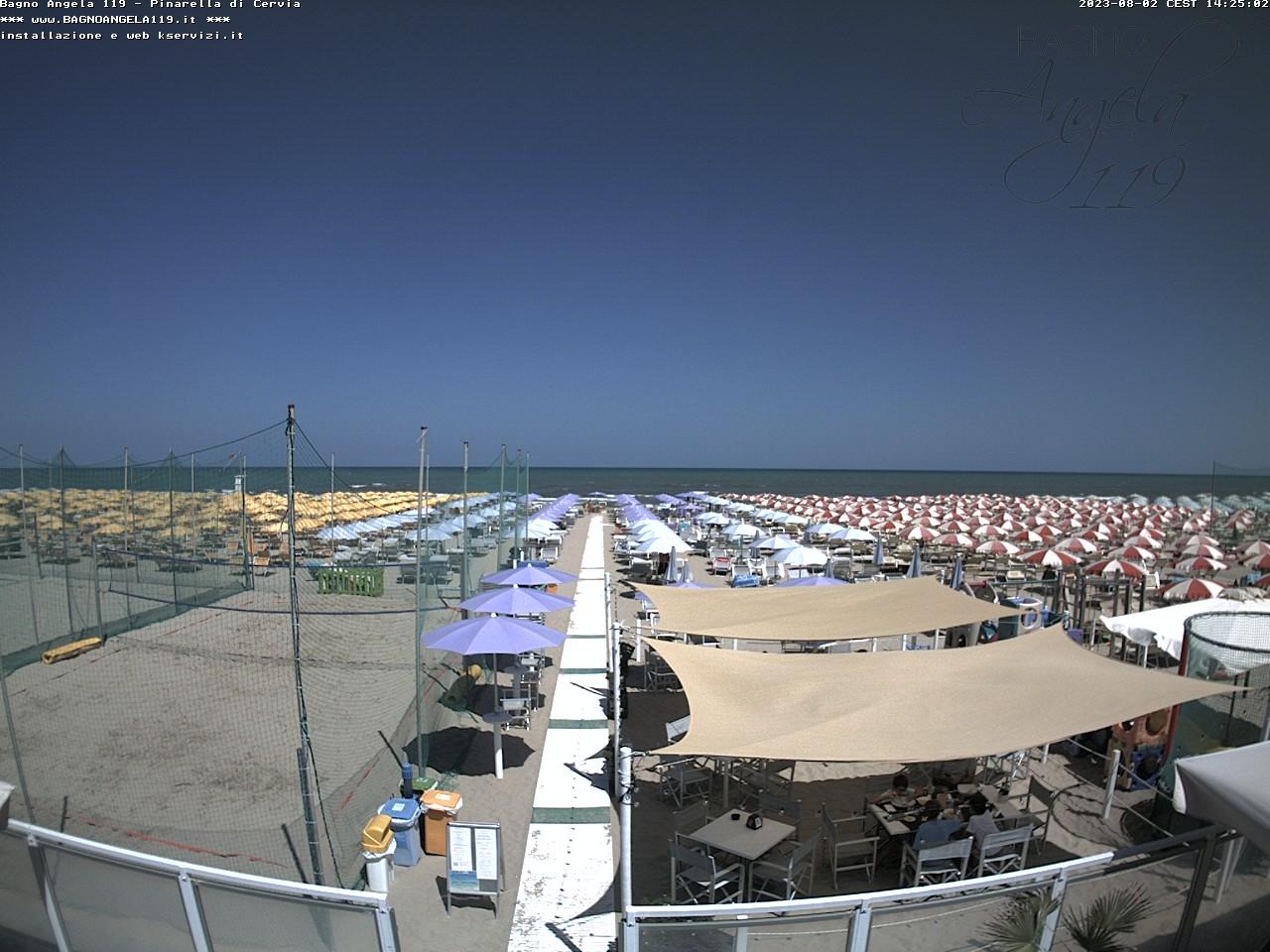 Webcam pinarella di cervia spiaggia bagno angela - Bagno andrea pinarella di cervia ...