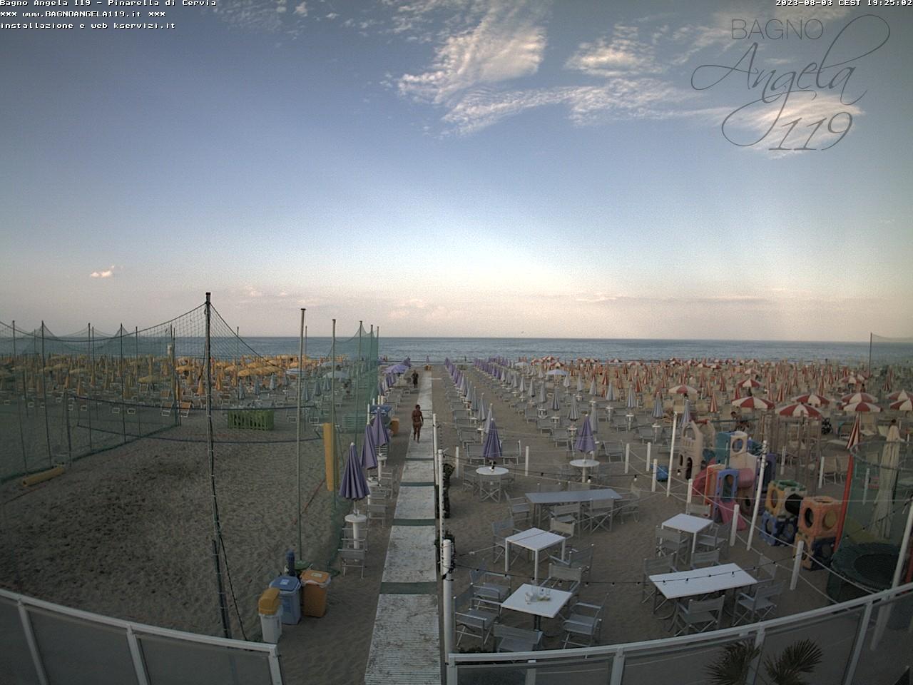 Webcam pinarella di cervia bagno angela beach - Web cam riccione bagno 81 ...