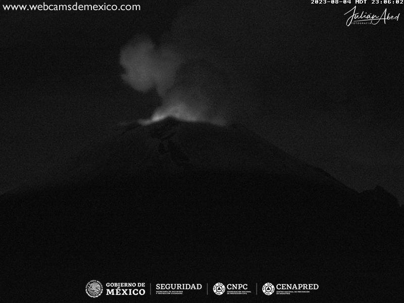 Popocatépetl Tue. 00:06