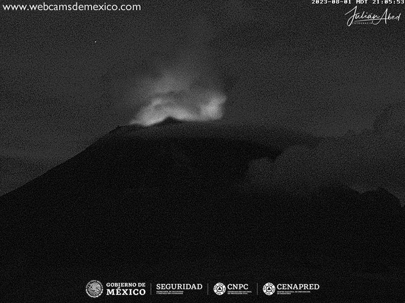 Popocatépetl Mon. 22:06
