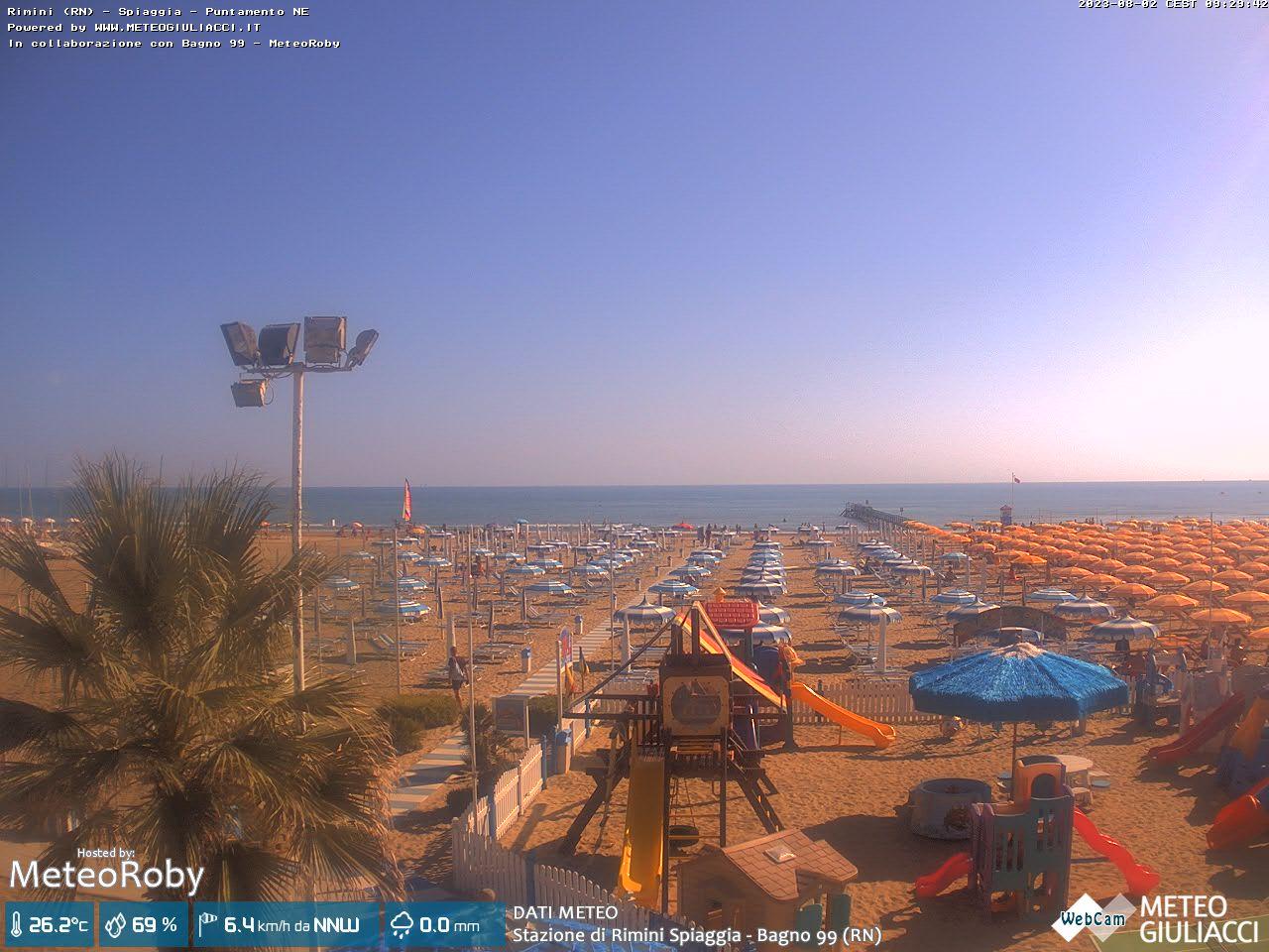 Rimini: strand von rimini webcam galore
